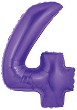 Purple Number 4 Balloon